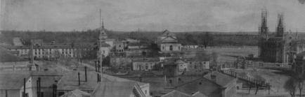 Charles Clifford: Detalle de La carrera de San Jerónimo con el Museo del Prado y la carrera de San Jerónimo, 1853. Biblioteca Nacional de España, Madrid.