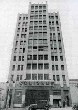 El antiguo edificio del Cine Coliseum en la Gran Vía de Madrid