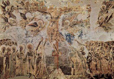 Cimabue: La Crucifixión. Basílica de San Francisco de Asís