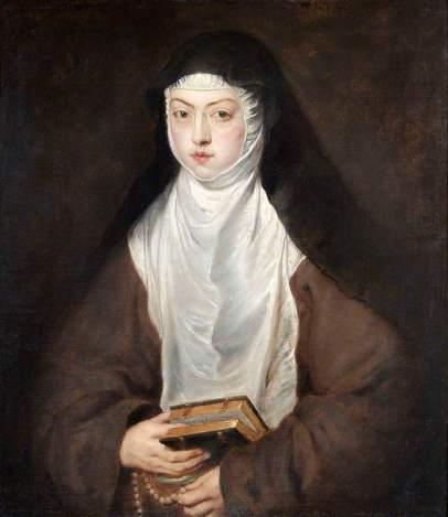 Pedro Pablo Rubens: Retrato de Son Ana Dorotea. Madrid, Monasterio de las Descalzas Reales.