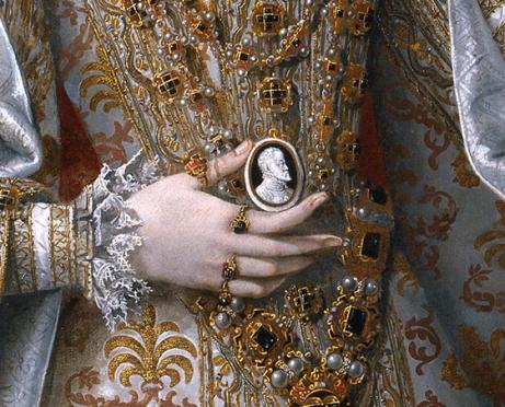 Alonso Sánchez Coello: Isabel Clara Eugenia y Magdalena Ruiz, 1585-1588. Museo Nacional del Prado, Madrid.
