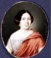 Cecilio Corro: Isabel II, ca. 1855. Gouache sobre marfil. Museo Lázaro Galdiano, Madrid.
