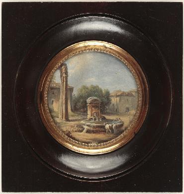 Paisaje, ca. siglo XVIII. Museo Nacional del Romanticismo, Madrid