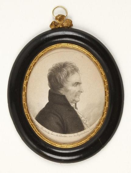 Étienne Bouchardy: Crispín de Larra. Fisionotrazo al aguatinta, ca. 1808-1815. Museo Nacional del Romanticismo, Madrid