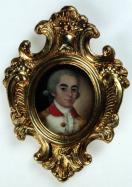 Anónimo de escuela italiana: Retrato masculino, ca. 1785. Gouache sobre marfil. Museo Lázaro Galdiano, Madrid.