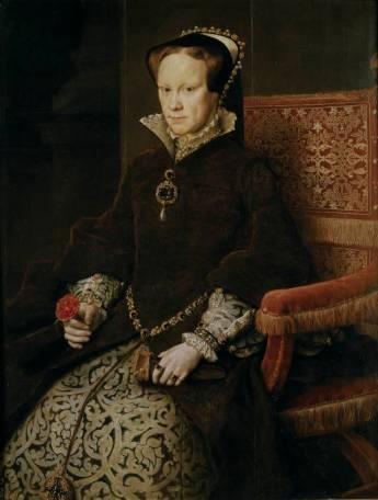Antonio Moro: Retrato de Maria Tudor, 1554. Museo Nacional del Prado, Madrid.