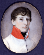 Atribuído a Daffinger: Francisco Carlos José, duque de Reichstadt, ca. 1825. Gouache sobre marfil. Museo Lázaro Galdiano, Madrid.