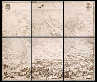 """Jacques Callot: """"El Sitio de Breda"""". Museo Nacional del Prado, Madrid."""