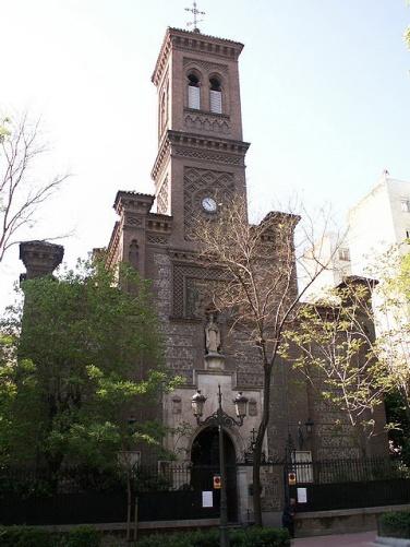 Vista de la Iglesia de San Fermín de los Navarros, Madrid.