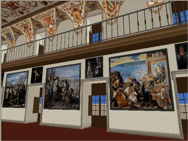 Reconstrucción del Salón de Reinos del Palacio del Buen Retiro.