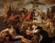 """Pedro Pablo Rubens: """"Encuentro del Cardenal Infante y el rey de Hungría"""". Kunsthistorisches Museum, Viena"""