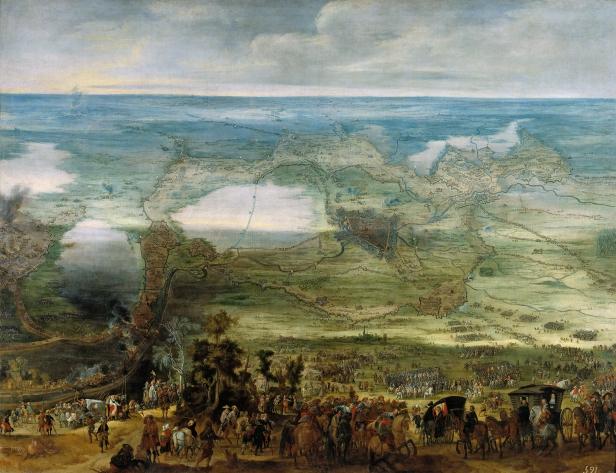 """Peter Snayers: """"Isabel Clara Eugenia en el Sitio de Breda"""". Museo Nacional del Prado, Madrid."""