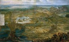"""Peter Snayers: """"Vista caballera del Sitio de Breda"""". Museo Nacional del Prado, Madrid."""