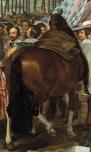"""Velázquez: Detalle del caballo en """" Las Lanzas""""."""