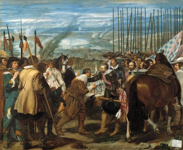 Diego Rodríguez de Silva y Velázquez: El sitio de Breda. Museo Nacional del Prado, Madrid.