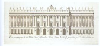 Filippo Juvarra: Fachada a los Jardines del Real Palacio de Madrid. Archivo General de Palacio, Madrid.