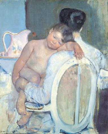 Mary Cassat, Mujer sentada con niño en brazos, c.1890. Museo de Bellas Artes de Bilbao.