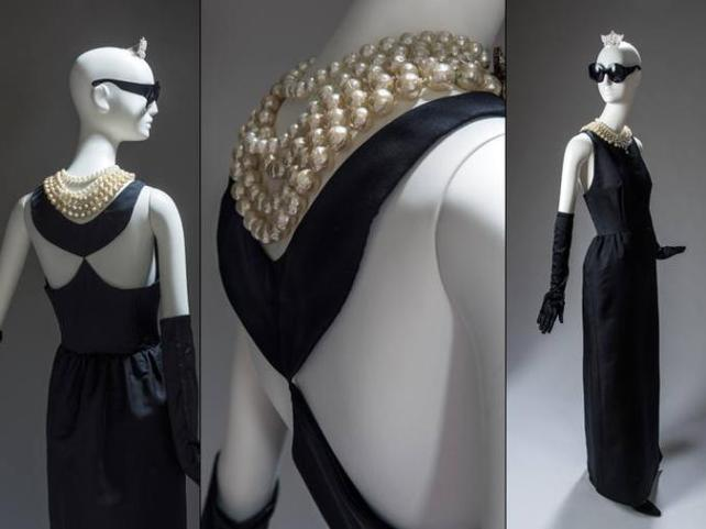 Hubert de Givenchy, 1961. Vestido para Desayuno con diamantes, de Audrey Hepburn.