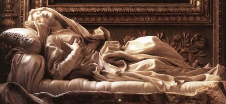 Gian Lorenzo Bernini: Santa Ludovica Albertona. Iglesia de San Francesco a Ripa, Roma.