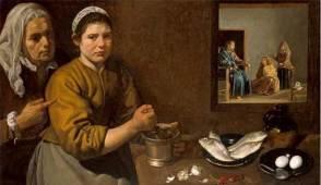 Diego de Silva y Velázquez: Cristo en Casa de Marta y María. National Gallery, Londres.