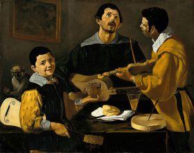 Diego de Silva y Velázquez: Los tres músicos. Gemäldegalerie, Berlín.