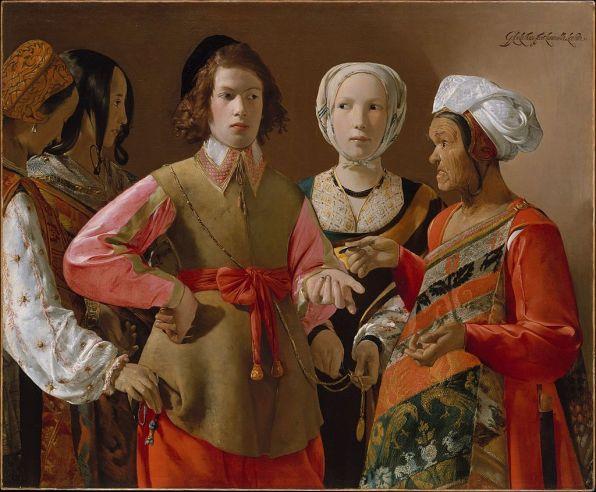 Georges de La Tour: La Buenaventura. Metropolitan Museum, New York.