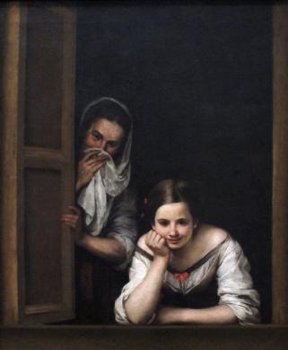Bartolomé Esteban Murillo: Joven y su dueña. National Gallery, Washington.