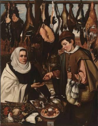 Alejandro de Loarte: Vendedora de gallinas. Museo Nacional del Prado, Madrid.
