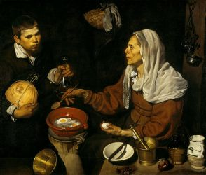 Diego de Silva y Velázquez: Vieja friendo huevos. National Gallery of Scotland, Edimburgo.