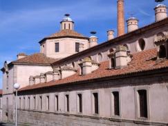 Vista de la Real Fábrica de Cristales de La Granja de San Ildefonso, Segovia.