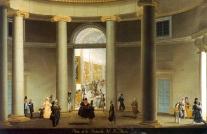 Fernando Brambilla: Vista de la rotonda del Real Museo. Patrimonio Nacional, Madrid.