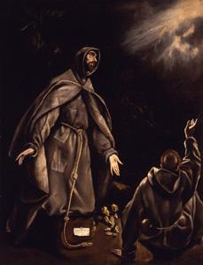 El Greco: San Francisco en Éxtrasis. Museo Cerralbo, Madrid.