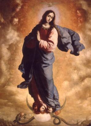 Francisco de Zurbarán: Inmaculada, ca. 1640. Museo Cerralbo, Madrid.