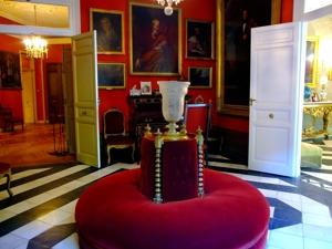 Vista del Salón rojo del Museo Cerralbo.