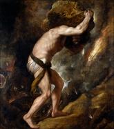 Tiziano: Sísifo. Museo Nacional del Prado, Madrid. Procedente de la colección de María de Hungría.