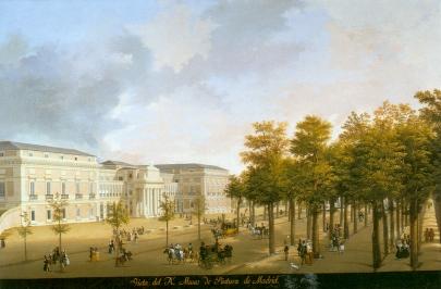 Fernando Brambilla: Vista del Real Museo de Pintura. Patrimonio Nacional, Madrid.