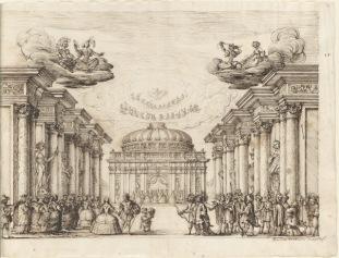 """Baccio del Bianco: Dibujo para la """"Andromeda y Perseo"""". Houghton Library, Harvard University, Cambridge, Ms Typ 258."""