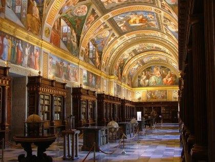 Vista de la Biblioteca de El Escorial.