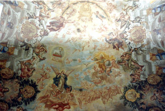 Juan Delgado: Bóveda de la Capilla de la Inmaculada, Instituto San Isidro, Madrid.