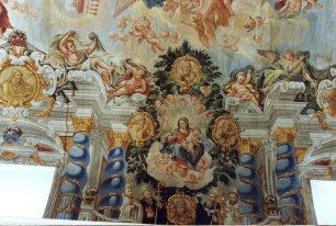 Juan Delgado: Detalle de la Virgen de la Leche, en la Capilla de la Inmaculada, Instituto San lsidro, Madrid.