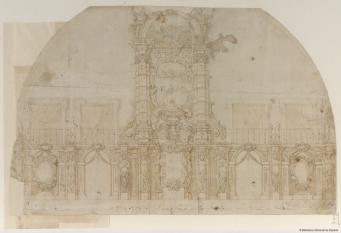 Claudio Coello: Decoración efímera para la entrada en Madrid de María Luisa de Orleans. 1680. Biblioteca Nacional de España, Madrid.