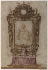 Proyecto de Altar. Sebastián de Herrera Barnuevo, ca. 1662-1670, Biblioteca Nacional de Madrid.