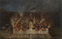 Anónimo: El Incencio del Monasterio de El Escorial en 1633. Museo Nacional del Prado, Madrid.