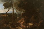Nicolás Poussin: Paisaje con San Pablo Ermitaño. Museo Nacional del Prado, Madrid.