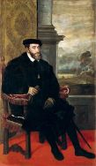 Tiziano: Retrato de Carlos V sentado. Alte Pinakothek, Munich.