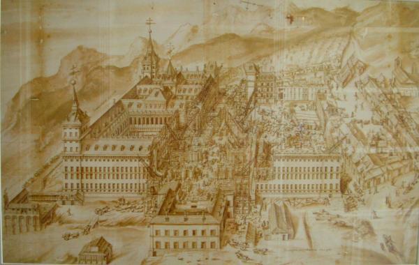 Anónimo: Construcción del Monasterio de El Escorial.