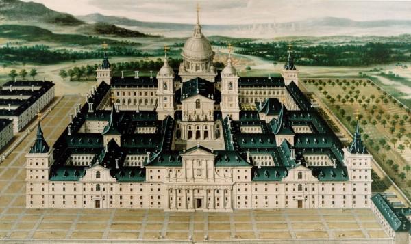 Anónimo: Vista del Real Monasterio de San Lorenzo de El Escorial. Patrimonio Nacional.