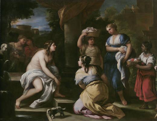 Luca Giordano: Bethsabé en el baño. Museo Nacional del Prado, Madrid.