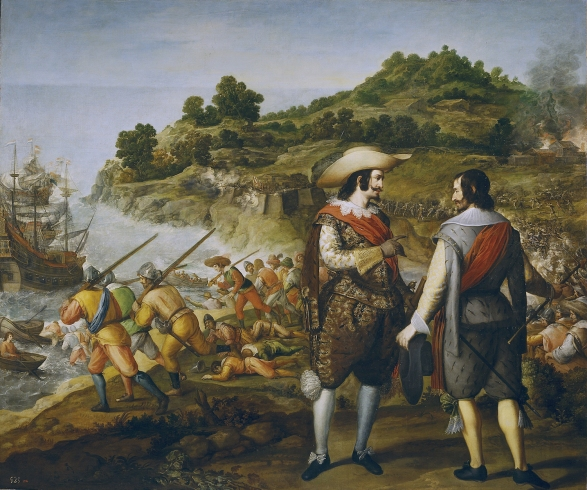 Eugenio Cajés: Recuperación de San Juan de Puerto Rico. Museo Nacional del Prado, Madrid.