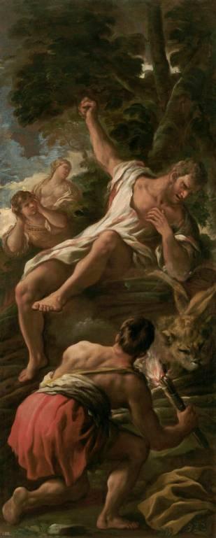 Luca Giordano: Hércules en la Pira. Museo Nacional del Prado, Madrid.